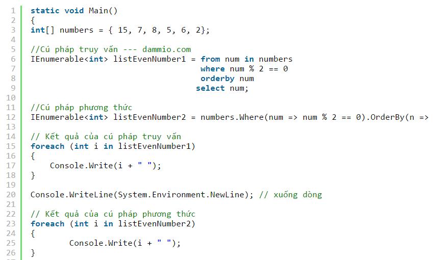 [LINQ] Phần 6: Cú pháp truy vấn và cú pháp phương thức trong LINQ (C#)