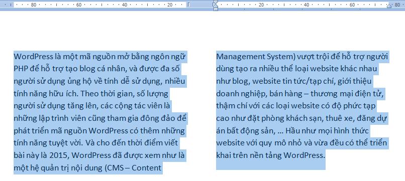 Mẹo chia cột trong Microsoft Word luôn thành công!