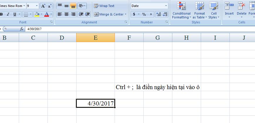 Danh sách các phím tắt hữu dụng nhất trong Microsoft Excel