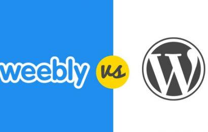 So sánh WordPress và Weebly? Nên chọn cái nào?