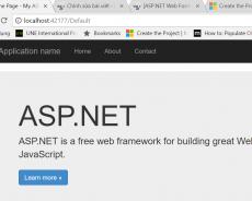 [ASP.NET Web Forms] Phần 2: Khởi tạo dự án ASP.NET Web Form