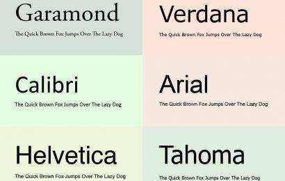 10 font chữ an toàn nhất trong thiết kế website