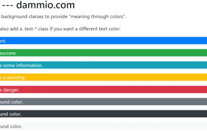 [Bootstrap 4] Phần 5: Màu sắc trong Bootstrap 4