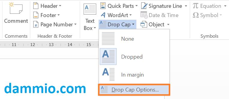 Tạo chữ cái lớn (Drop Cap) đầu dòng mỗi đoạn trong Word