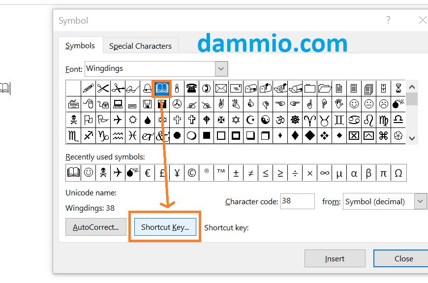Chèn và gán phím tắt cho các biểu tượng (Symbol) trong Word