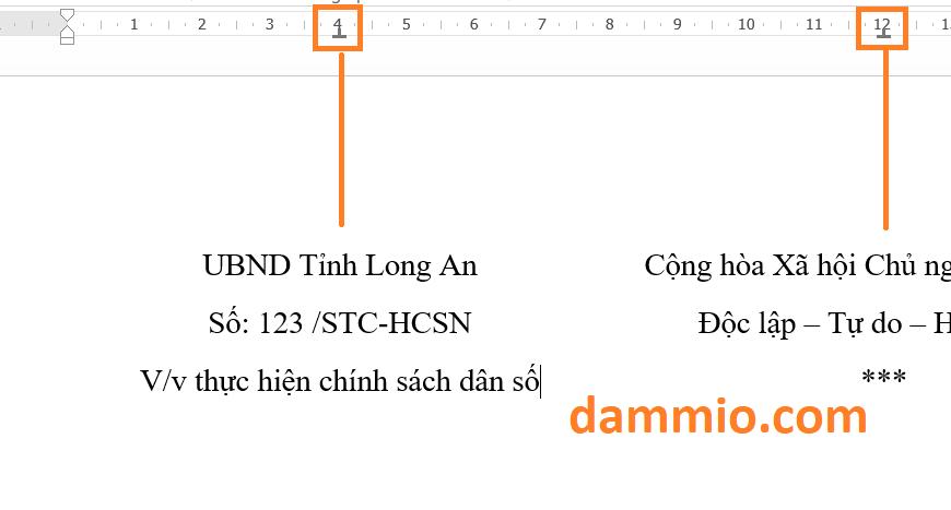 Hướng dẫn cách trình bày tiêu đề văn bản hành chính nhà nước (quốc hiệu CHXHCNVN, UBND,…) canh giữa trong Word